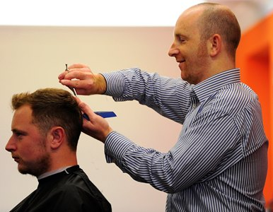 Hyde Park Hair Shop proprietor Chris Horsfield at work