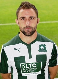 Plymouth Argyle central defender Peter Hartley courtesy & copyright DAVE ROWNTREE