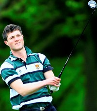 University of Exeter golf captain Laurie Potter. image copyright and courtesy Tom Ward Sport