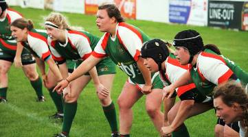Plymouth Albion Ladies defensive line