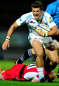 Exeter Chiefs flyer Mark Foster image courtesy & copyright Exeter Chiefs/Pinnacle Photo Agency UK