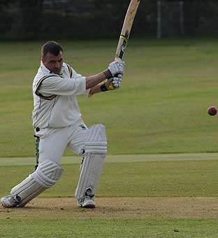 Former Cornwood CCC wiketkeeper Duncan Boase shows his poise
