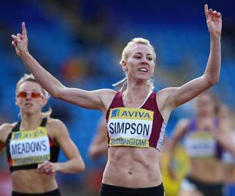 British women's 800 metre champoion Jemma Simpson, photograph courtesy & copyright pinnacle photo agency uk