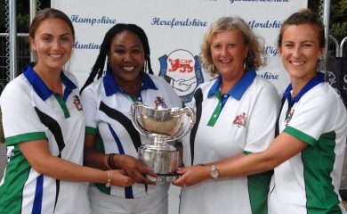 Devon four win national womens' bowls title 2018 image courtesy & copyright Bob Saunders