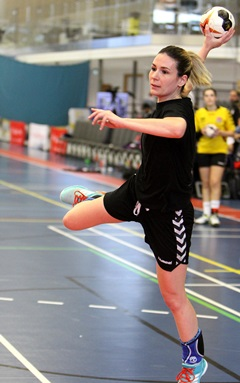 Aiming for goal! Womens handball image courtesy England Handball